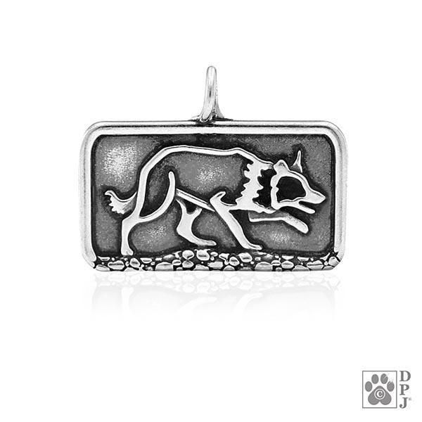 Border Collie Sizzlling Crouch, Body, Pendant
