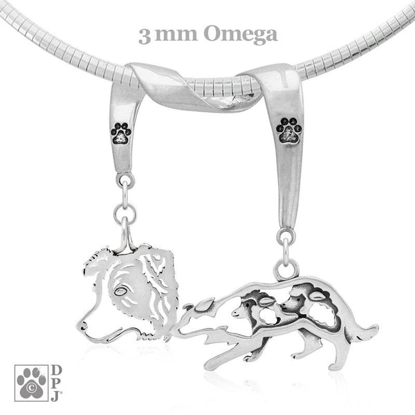 Border Collie, Charm Holder, Necklace