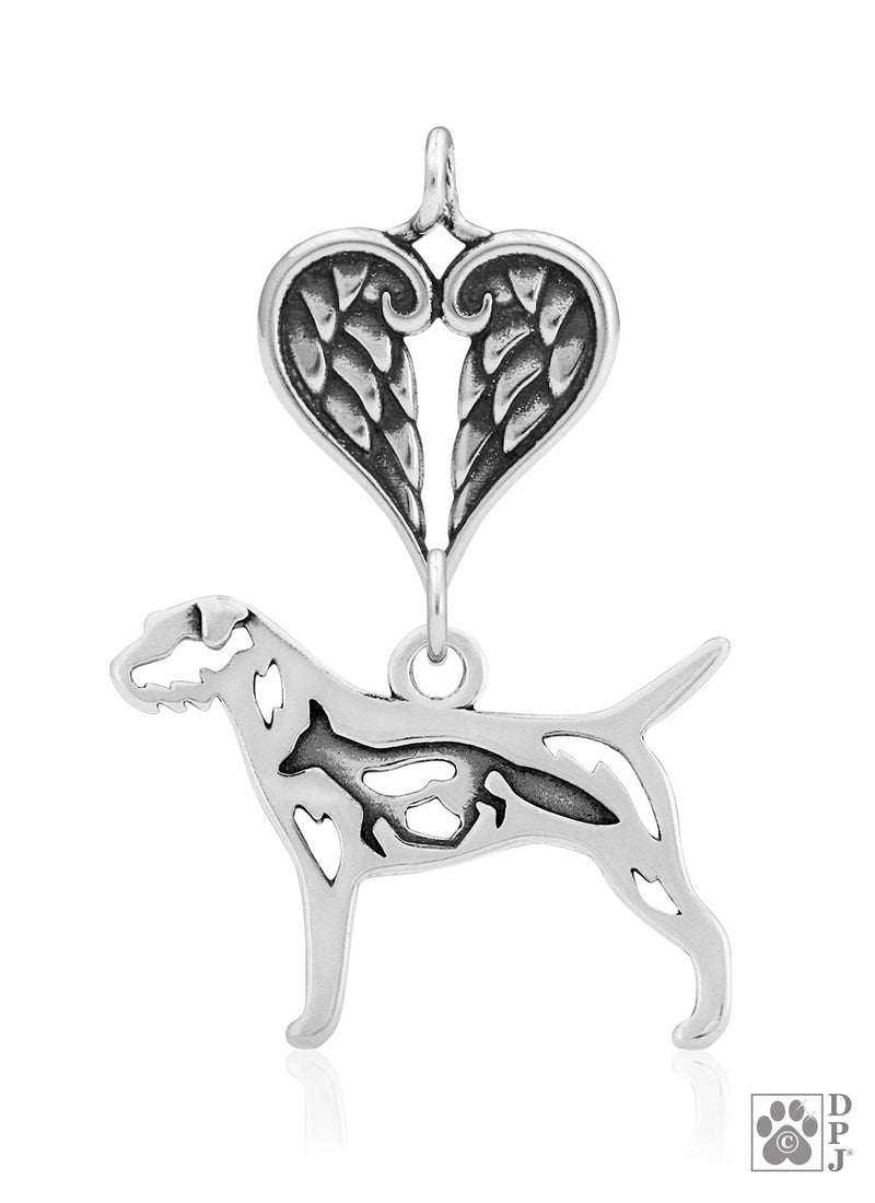 Border Terrier w/Fox, Body, with Healing Angels Pendant