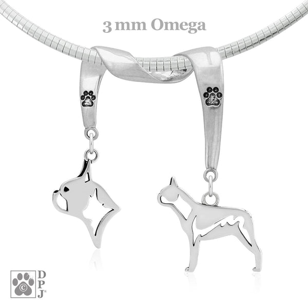 Boston Terrier, Charm Holder, Necklace