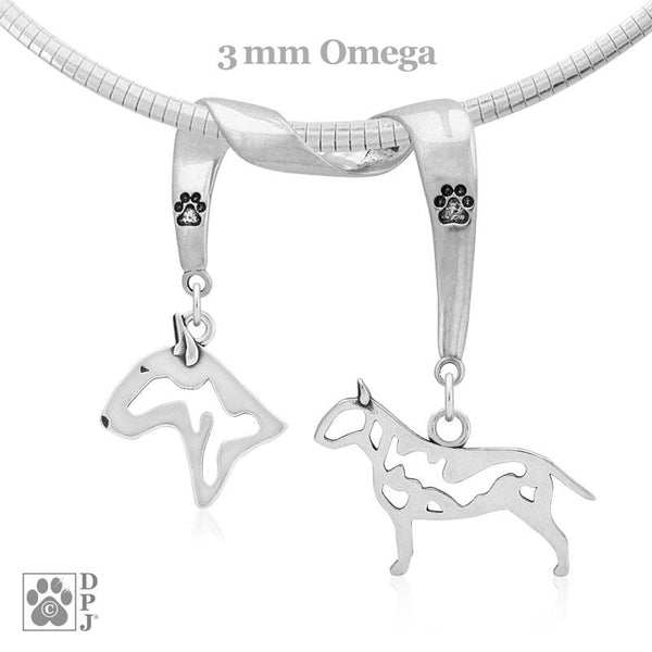 Bull Terrier, Charm Holder, Necklace
