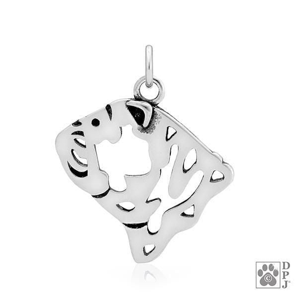 Bulldog, Head, Pendant