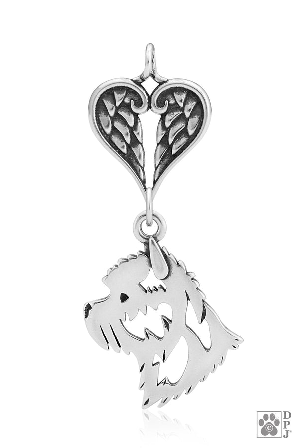 Cairn Terrier, Head, with Healing Angels Pendant