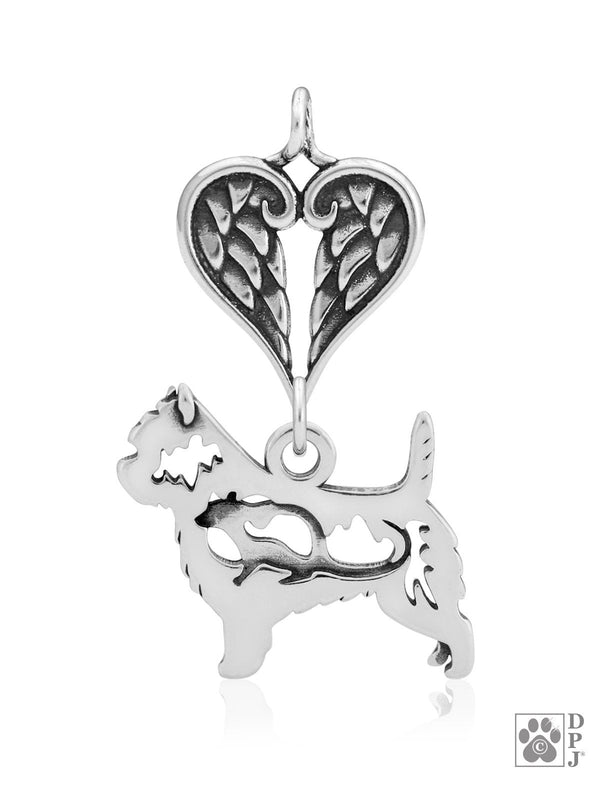 Cairn Terrier, w/Rat, Body, with Healing Angels Pendant