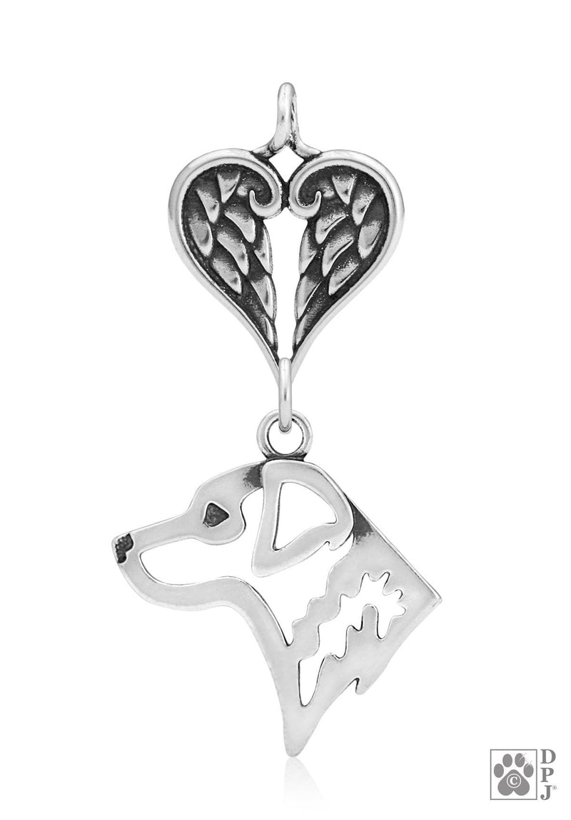 Chesapeake Bay Retriever, Head, with Healing Angels Pendant