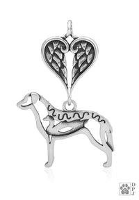 Chesapeake Bay Retriever w/Duck, Body, with Healing Angels Pendant
