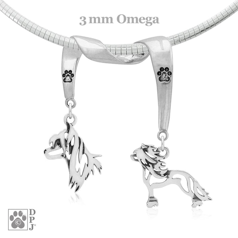 Chinese Crested, Charm Holder, Necklace