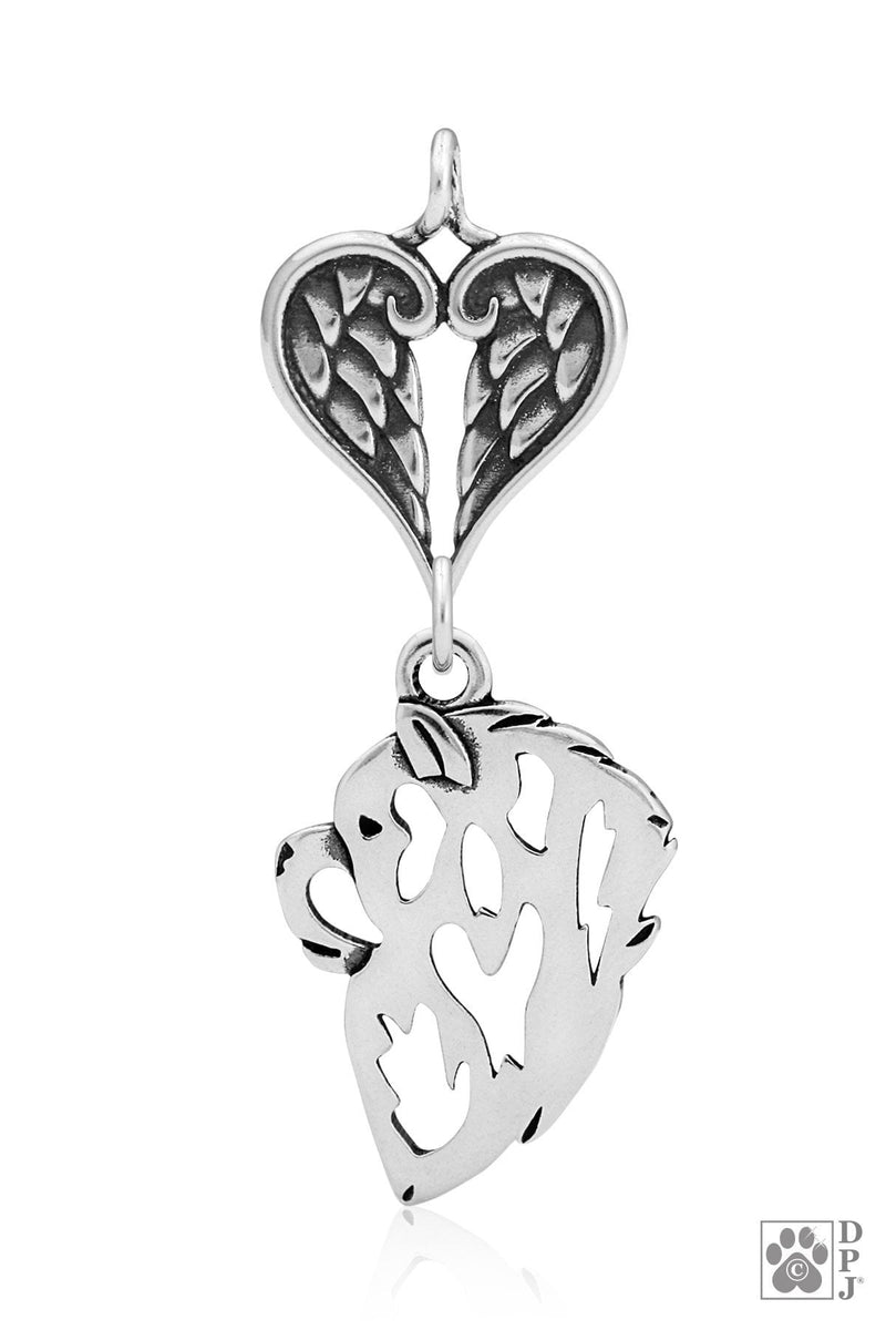 Chow Chow, Head, with Healing Angels Pendant