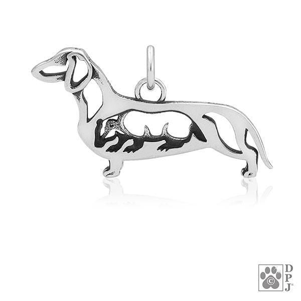 Dachshund Smooth Coat w/Badger, Body, Pendant