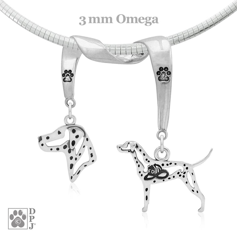 Dalmatian, Charm Holder, Necklace