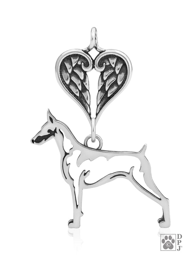 Doberman Pinscher, Body, with Healing Angels Pendant