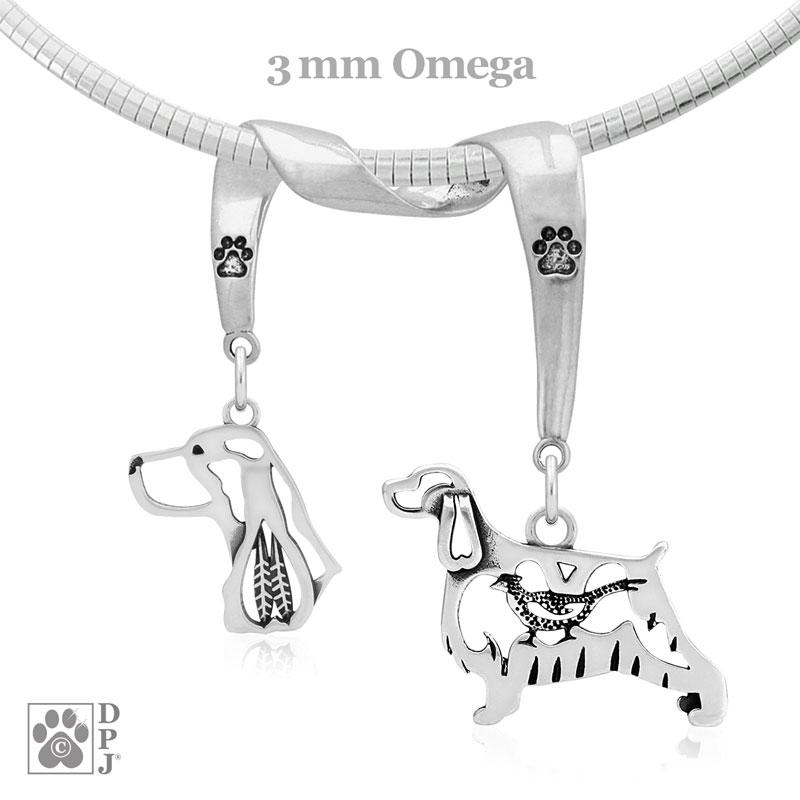 English Springer Spaniel, Charm Holder, Necklace