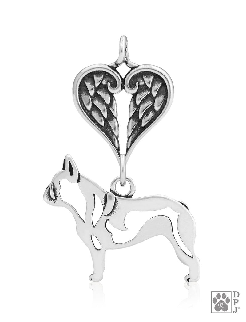 French Bulldog, Body, with Healing Angels Pendant