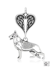 German Shepherd Dog, Body, with Healing Angels Pendant