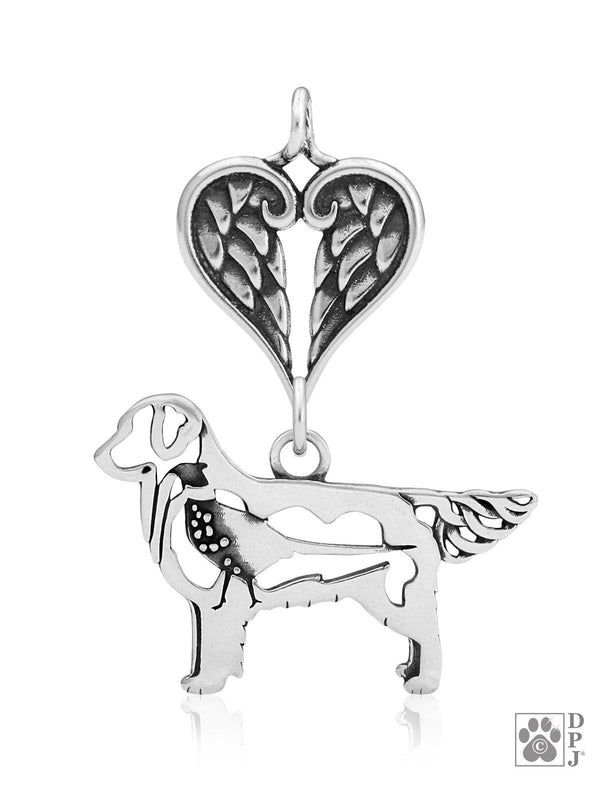 Golden Retriever w/Pheasant, Body, with Healing Angels Pendant