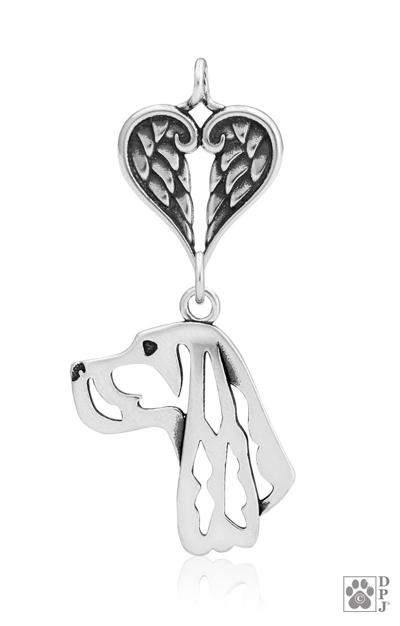 Gordon Setter, Head, with Healing Angels Pendant