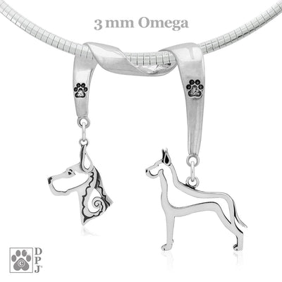 Great Dane, Charm Holder, Necklace