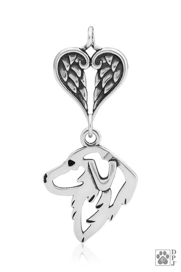 Great Pyrenees, Head, with Healing Angels Pendant