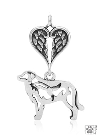 Great Pyrenees w/Fox, Body, with Healing Angels Pendant
