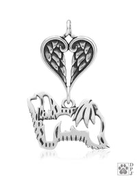 Havanese, Body, with Healing Angels Pendant