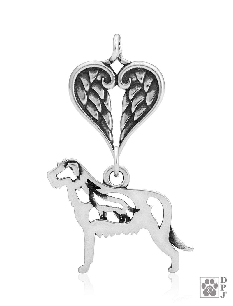 Italian Greyhound, Head, with Healing Angels Pendant