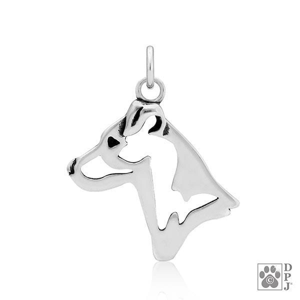 Parson Russell Terrier, Smooth Coat, Head, Pendant