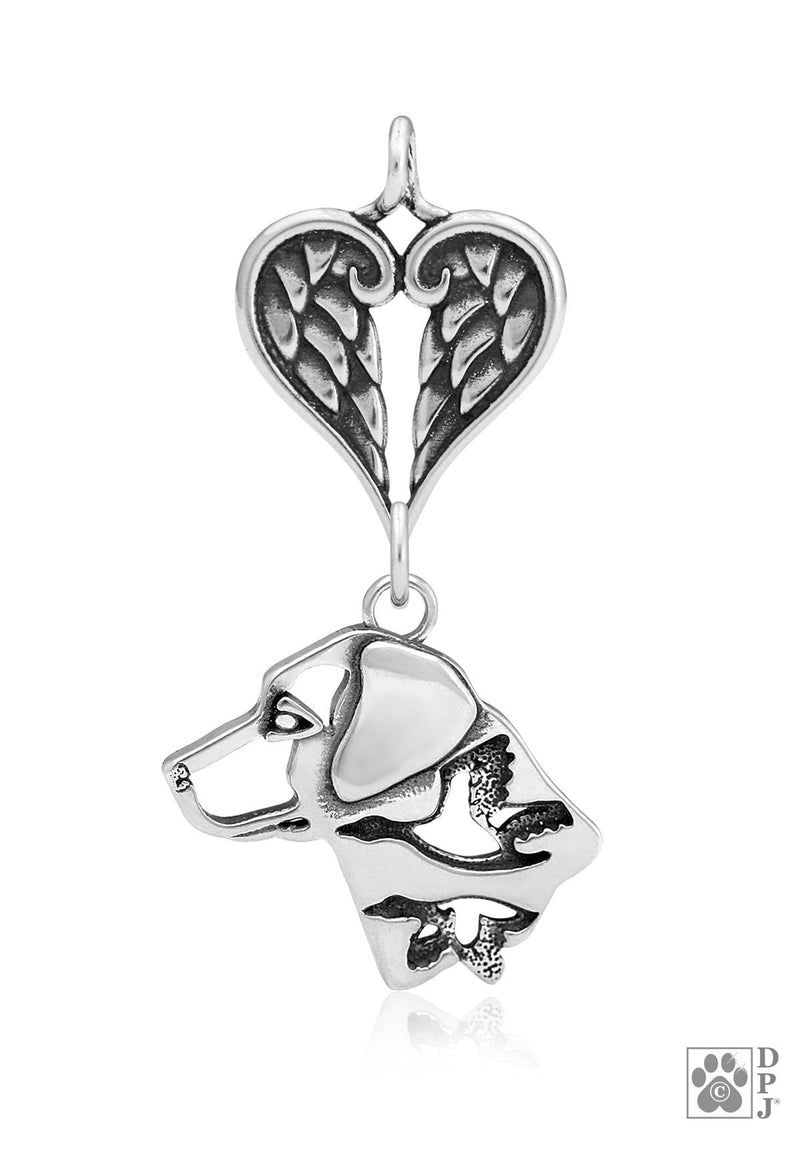 Labrador Retriever w/Ducks, Head, with Healing Angels Pendant