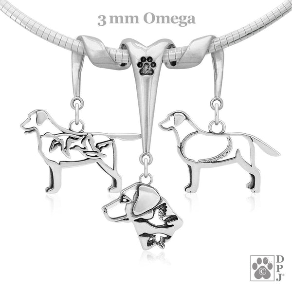 Labrador Retriever, Triple Charm Holder, Necklace