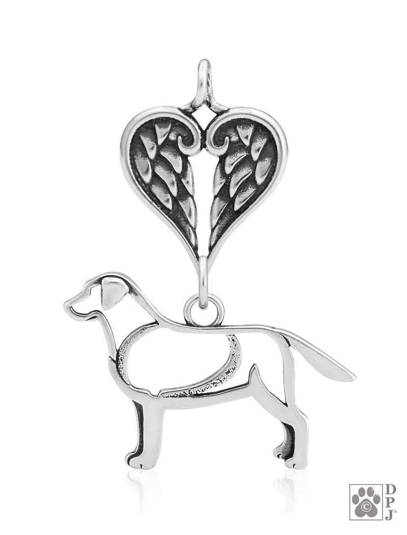 Labrador Retriever, Body, with Healing Angels Pendant