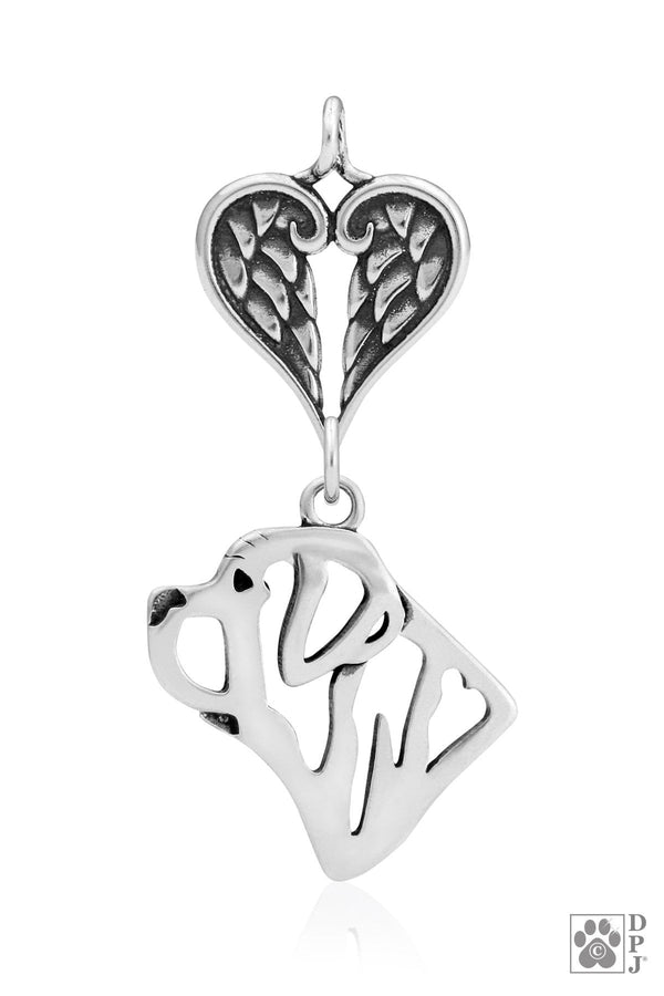 Mastiff, Head, with Healing Angels Pendant