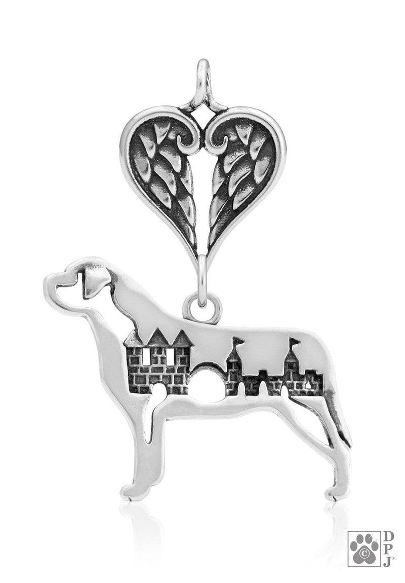 Mastiff w/Castle, Body, with Healing Angels Pendant