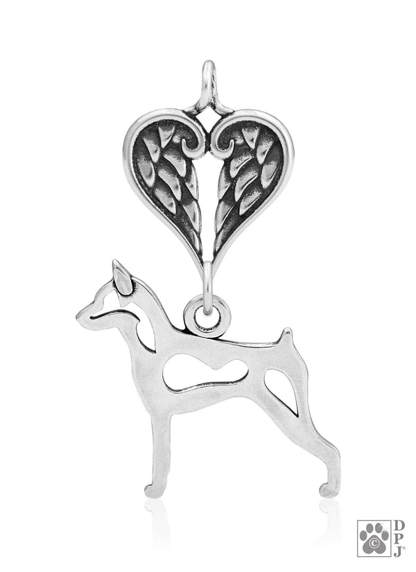 Miniature Pinscher, Body, with Healing Angels Pendant