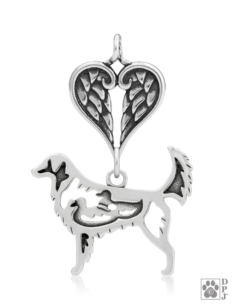 Nova Scotia Duck Tolling Retriever, Body, with Healing Angels Pendant
