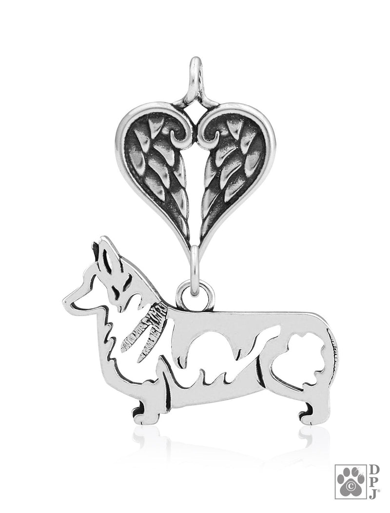 Pembroke Welsh Corgi, Body, with Healing Angels Pendant