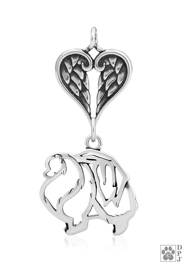 Pomeranian, Body, with Healing Angels Pendant