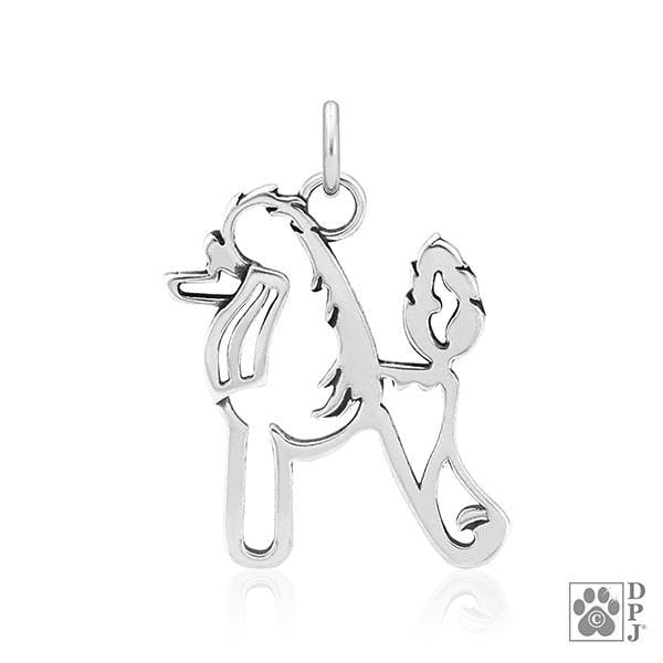 Poodle, Scandinavian Cut, Body, Pendant