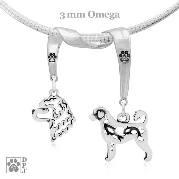 Portuguese Water Dog, Charm Holder, Necklace