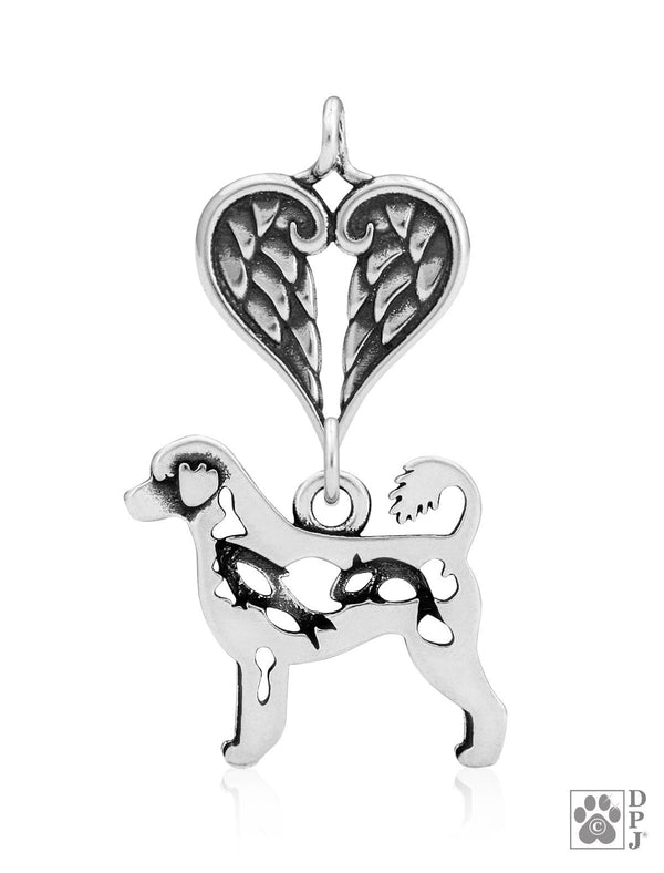 Portuguese Water Dog, Retriever Cut, Body, with Healing Angels Pendant
