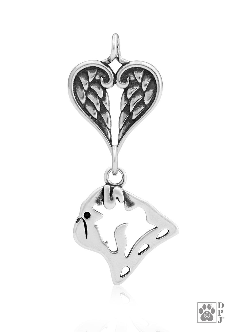 Pug, Head, with Healing Angels Pendant