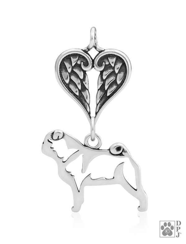 Pug, Body, with Healing Angels Pendant