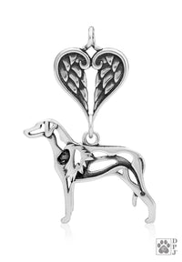 Rhodesian Ridgeback, w/Lion Body, with Healing Angels Pendant