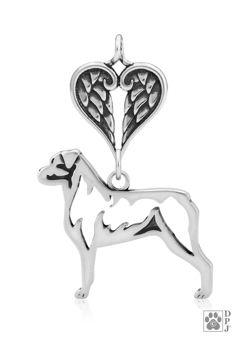 Rottweiler, Body, with Healing Angels Pendant