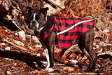 RC Pet Products West Coast Rainwear Raincoat, Fleece Lined, Water-Resistant, Reflective Dog Coat, Size 20, Red Buffalo Plaid