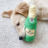 Crunchy Water Bottle Dog Toy - Champagne