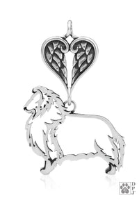 Shetland Sheepdog, Body, with Healing Angels Pendant