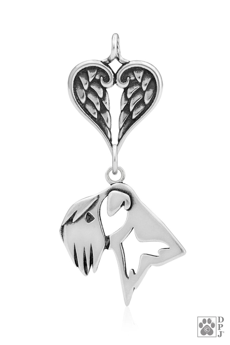 Soft Coated Wheaten Terrier, Head, with Healing Angels Pendant