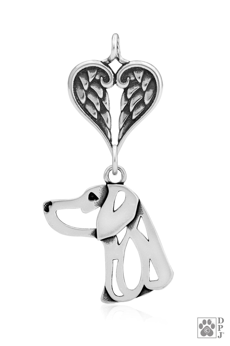 Weimaraner, Head, with Healing Angels Pendant