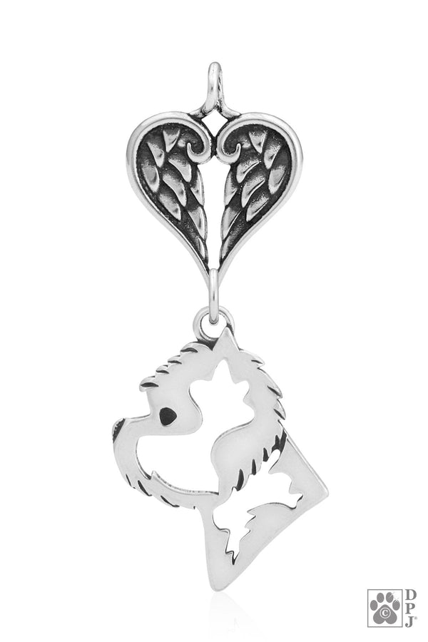 West Highland White Terrier, Head, with Healing Angels Pendant
