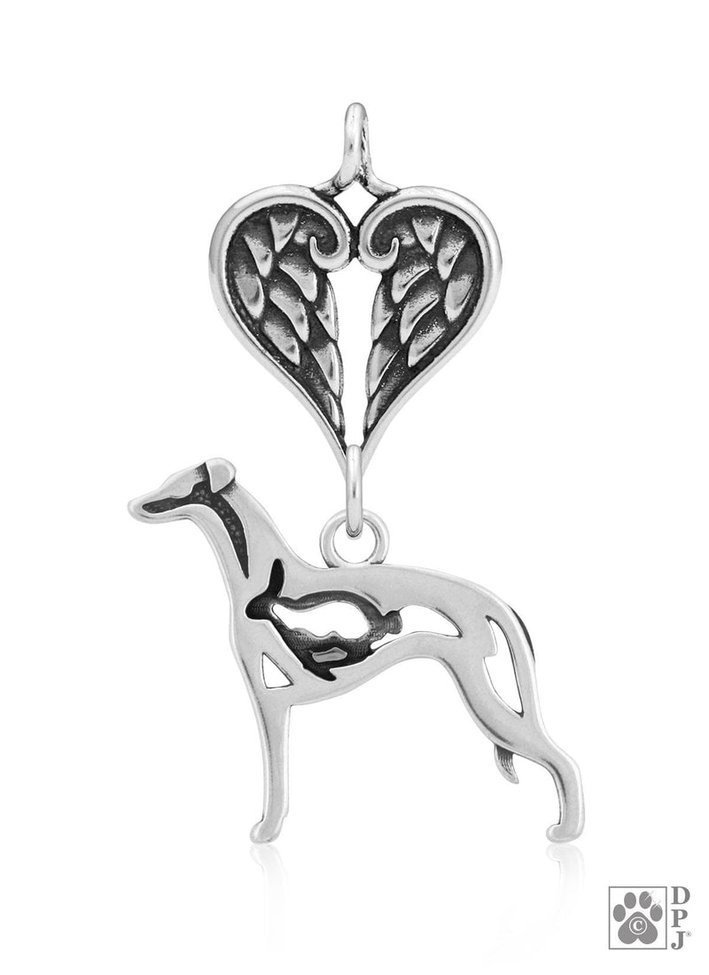 Whippet w/Bunny, Body, with Healing Angels Pendant