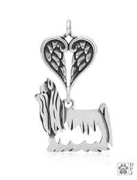 Yorkshire Terrier Show Cut, Body, with Healing Angels Pendant